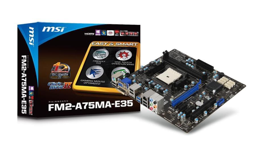 MSI FM2-A75MA-E35 (FM2-A75MA-E35) - Achat / Vente Carte Mère sur Cybertek.fr - 0