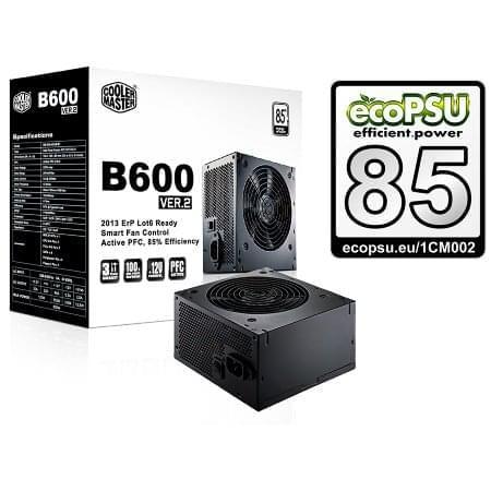 Cooler Master ATX 600 Watts B600 V2 RS600-ACABB1-EU (RS600-ACABB1-EU) - Achat / Vente Alimentation sur Cybertek.fr - 0