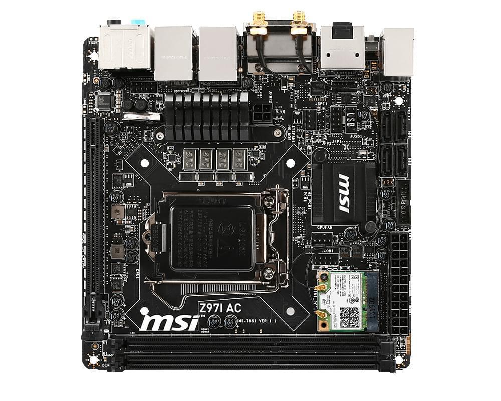 MSI Z97I AC (Z97I AC) - Achat / Vente Carte Mère sur Cybertek.fr - 0