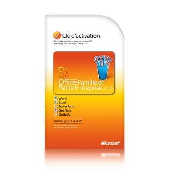 Microsoft Office Famille/Petite Entreprise 2010 COEM (T5D-00298) - Achat / Vente Logiciel Suite bureautique sur Cybertek.fr - 0