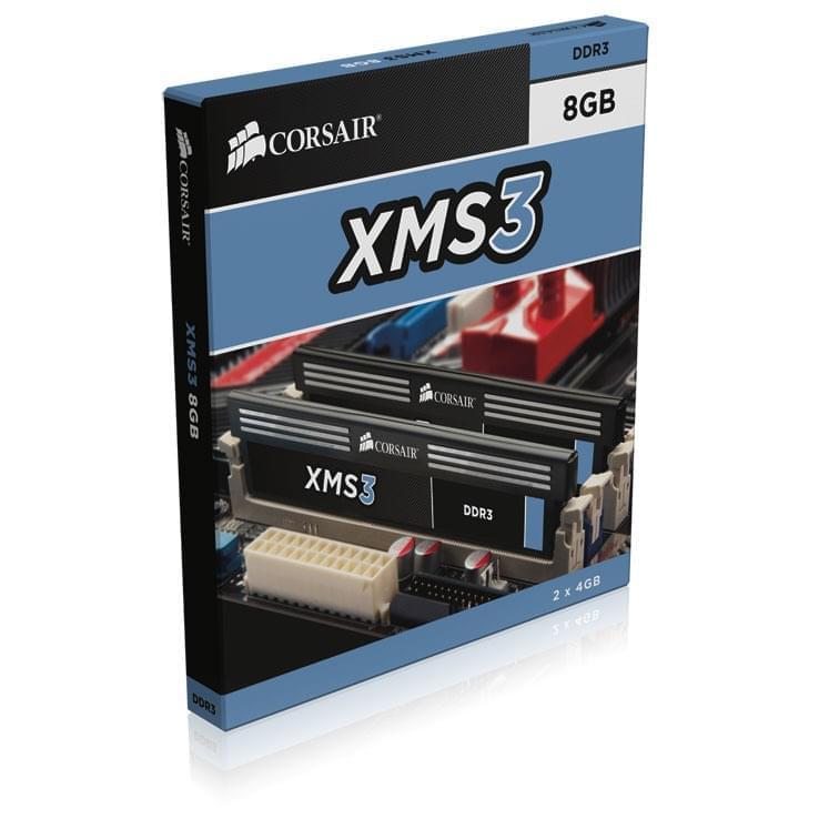 Corsair CMX8GX3M2A2000C9 (2x4Go DDR3 PC16000) (CMX8GX3M2A2000C9) - Achat / Vente Mémoire PC sur Cybertek.fr - 0