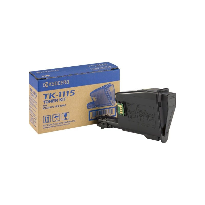 Toner Noir 1600p. - TK-1115 pour imprimante Laser Kyocera - 0