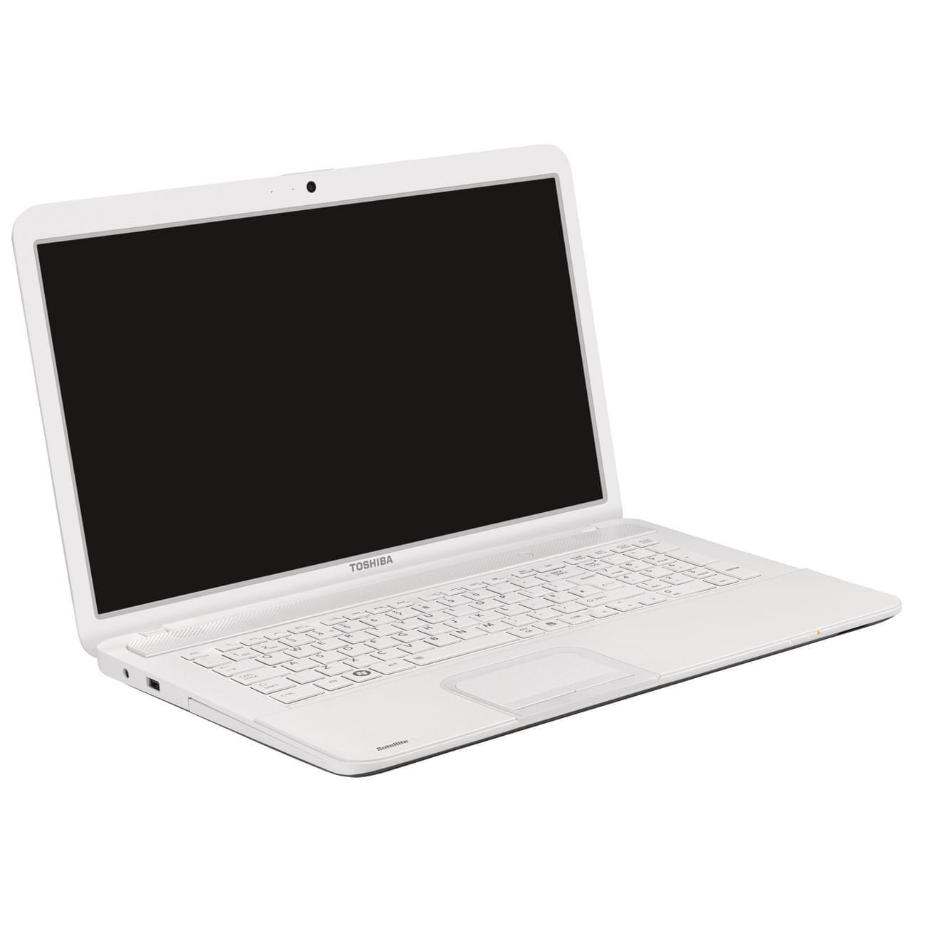 Toshiba C875-14R Blanc (PSCBCE-033002FR) - Achat / Vente PC Portable sur Cybertek.fr - 0