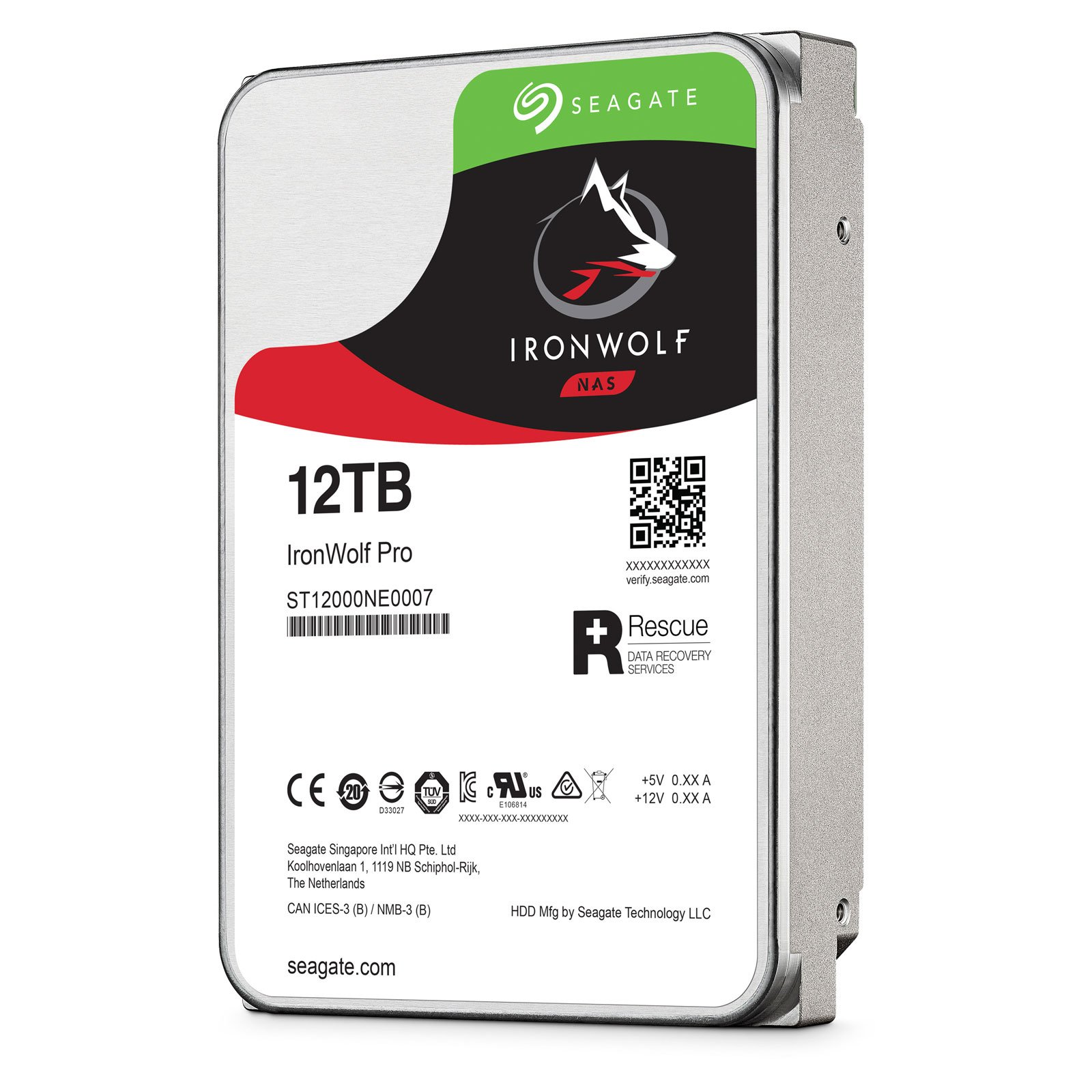 "Seagate 12To SATA III 256Mo IronWolf PRO ST12000NE0007 - Disque dur interne 3.5"" - 2"