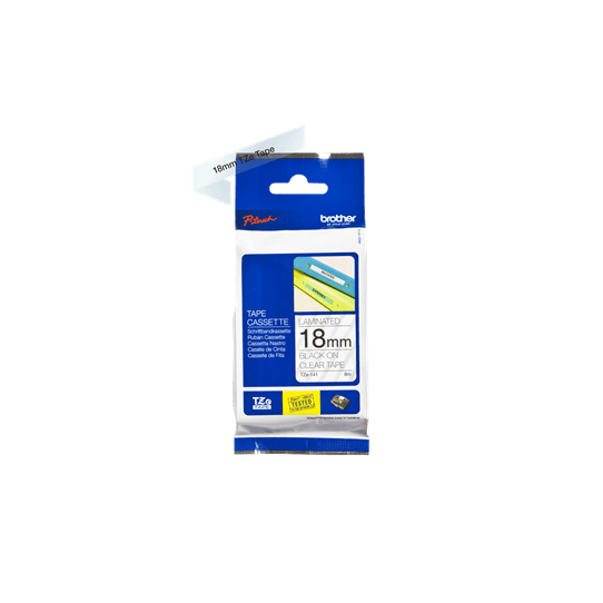Ruban transparent Caractères Noirs 18mm - TZE141 pour imprimante  Brother - 0
