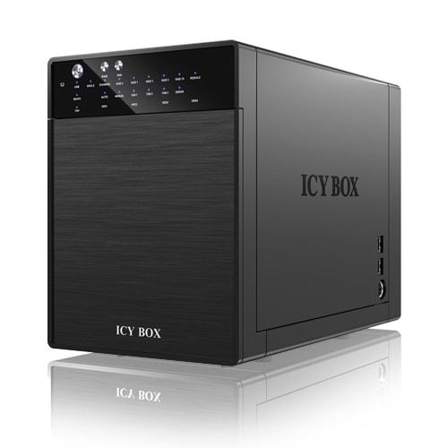 """Icy Box USB3.0 et eSATA pour 4xDD 3.5"""" - Boîtier externe - 0"""
