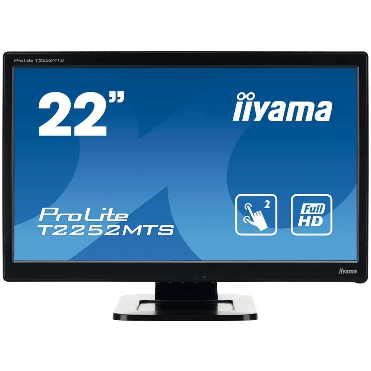 Iiyama T2252MTS-B3 (T2252MTS-B3) - Achat / Vente Ecran PC sur Cybertek.fr - 0