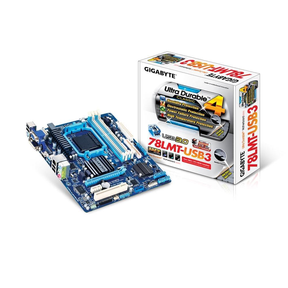 Gigabyte GA-78LMT-USB3 (GA-78LMT-USB3) - Achat / Vente Carte mère sur Cybertek.fr - 0