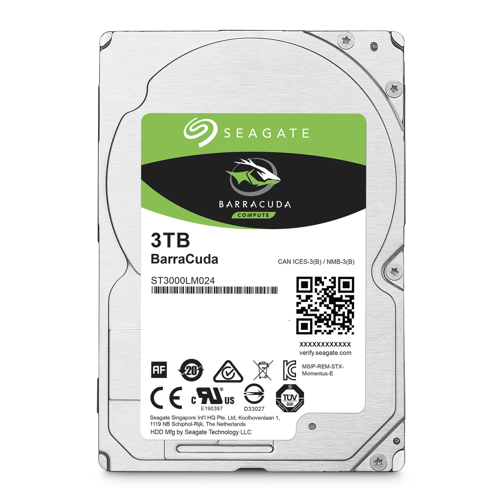 "Seagate ST3000LM024 3 To 5400 tr/min - Disque dur interne 2.5"" - 3"