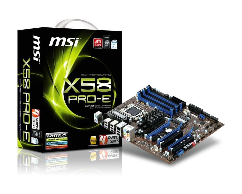 MSI X58 PRO-E ATX DDR3 - Carte mère MSI - Cybertek.fr - 0