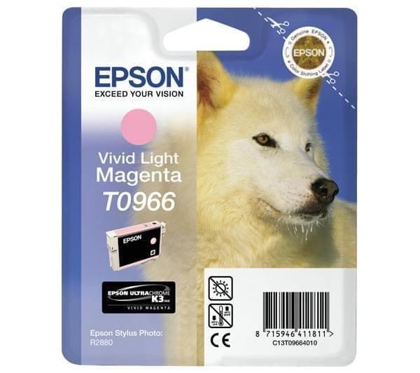 Cartouche d'encre Magenta vif clair T0966 pour imprimante Jet d'encre Epson - 0