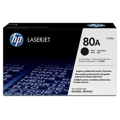 Toner Noir HP 80A - CF280A pour imprimante Laser HP - 0