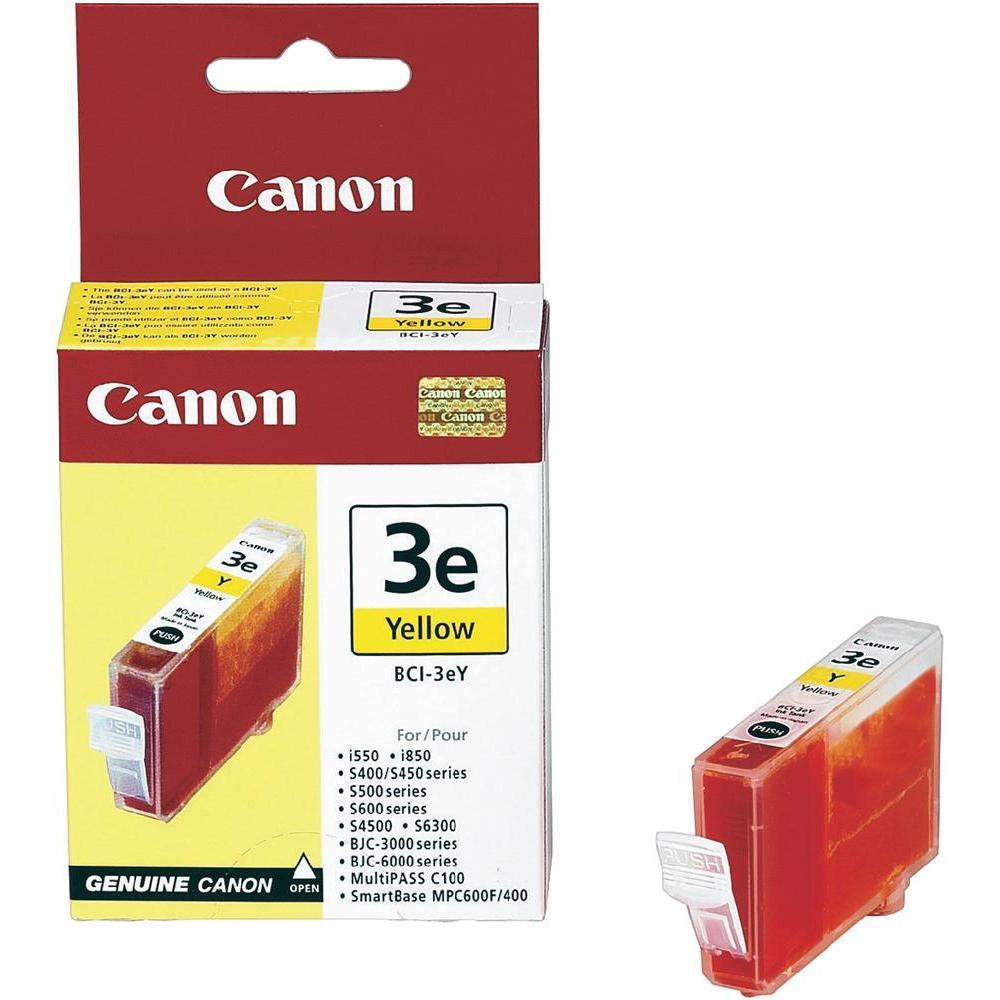 Cartouche BCI 3 E Yellow - 4482A002 pour imprimante Jet d'encre Canon - 0