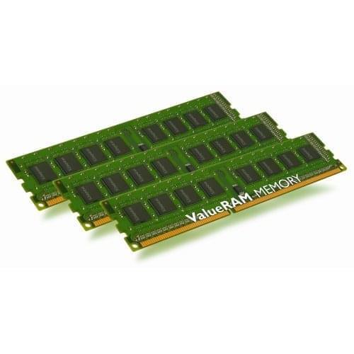 Marque/Marque 3Go DDR3-1333 PC10666 (Kit Triple Channel 3x1Go) (KVR1333D3N9K3/3G) - Achat / Vente Mémoire PC sur Cybertek.fr - 0
