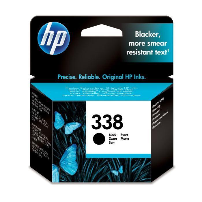 Cartouche N° 338 Noire 11ml - C8765EE pour imprimante Jet d'encre HP - 0