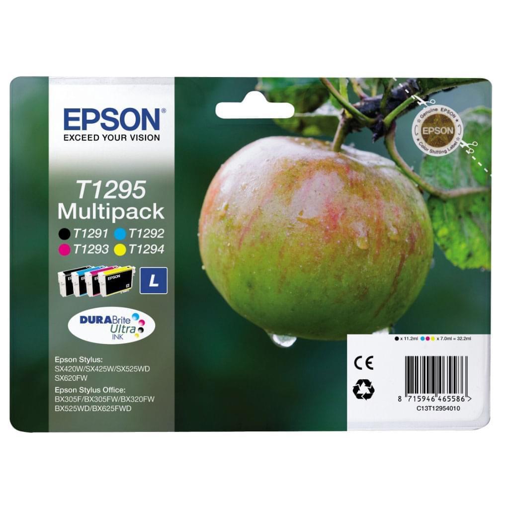Multipack T1295 Couleur et noir - C13T1295 pour imprimante Jet d'encre Epson - 0