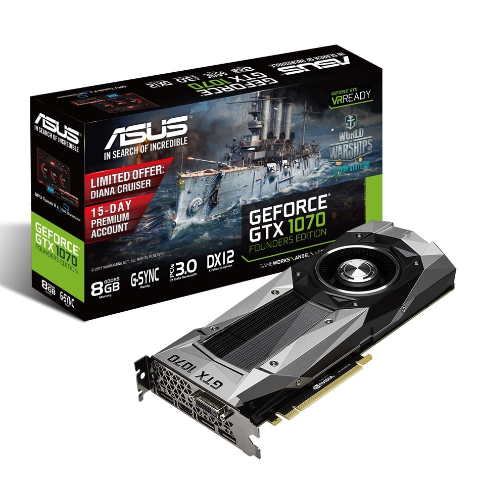 Asus GTX1070-8G Founders Edition  - Carte graphique Asus - 0