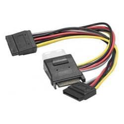 Doubleur d'alimentation Sata vers 1 Molex + 2 Sata - Connectique PC - 0