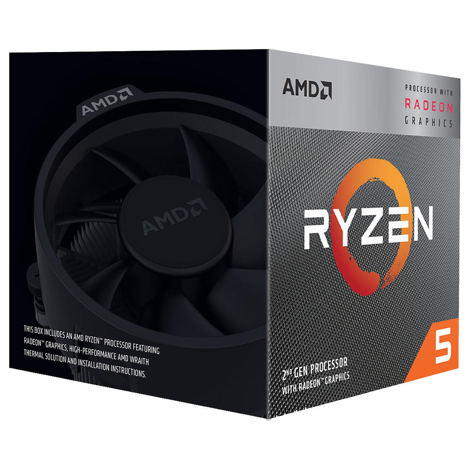 AMD Ryzen 5 3400G - 4.2GHz - Processeur AMD - Cybertek.fr - 2