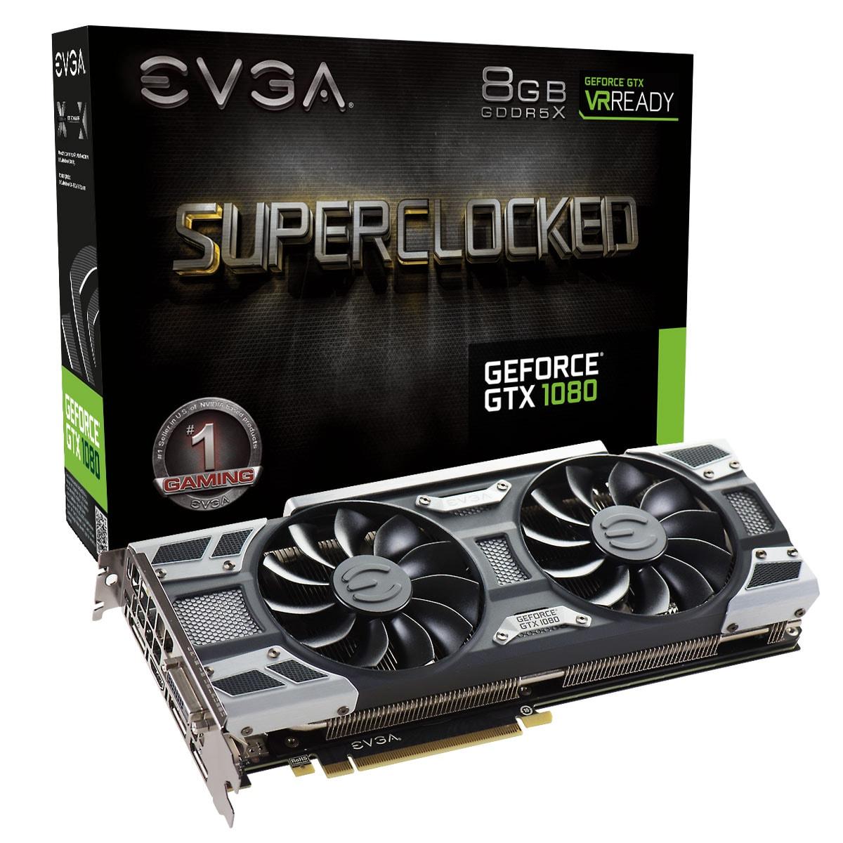 EVGA GTX 1080 SC Gaming 6183 8Go - Carte graphique EVGA - 0