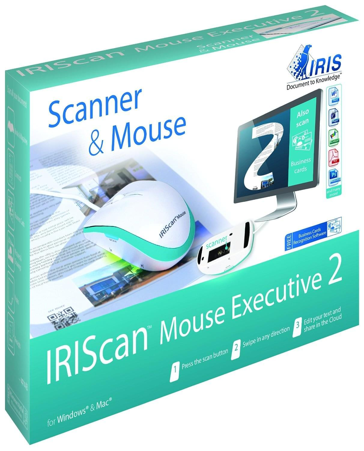 Iris IRIScan Mouse Executive 2 (scanner à main) - Souris PC Iris - 0
