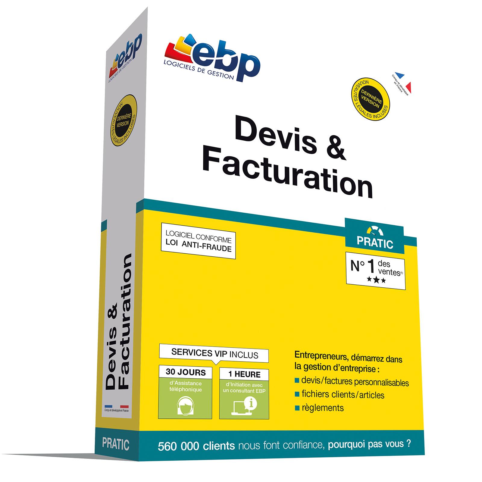 EBP Devis & Facturation PRATIC + VIP - Logiciel application - 0