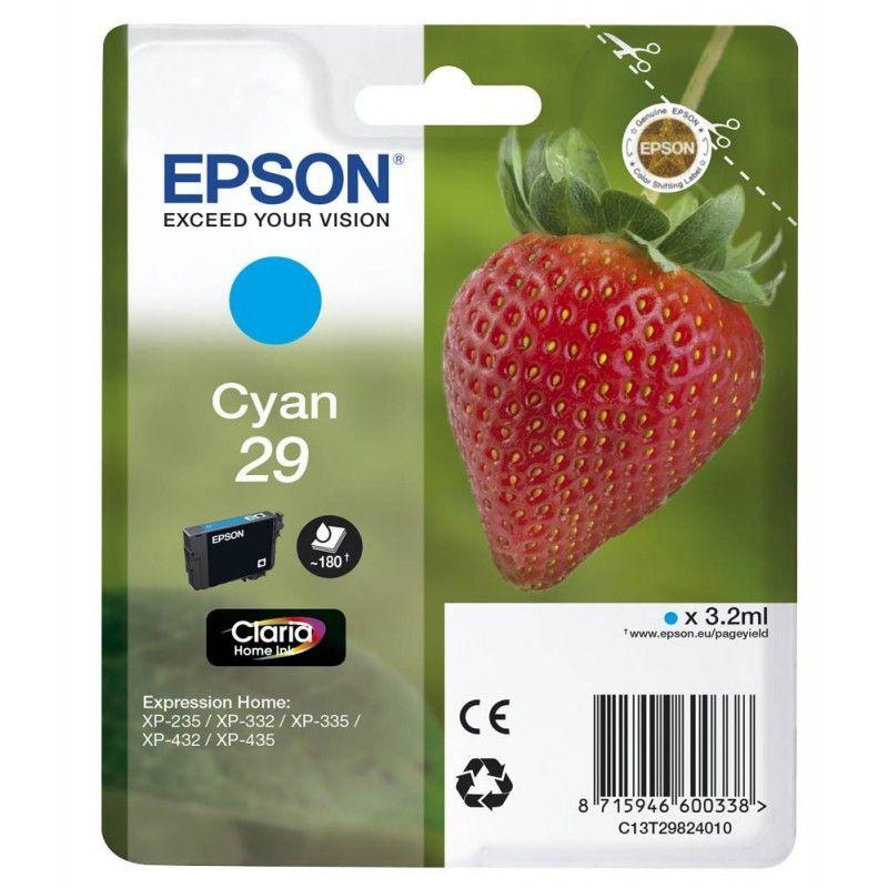 Epson Cartouche Fraise Encre Claria Home Cyan N°29  (C13T29824010) - Achat / Vente Consommable Imprimante sur Cybertek.fr - 0