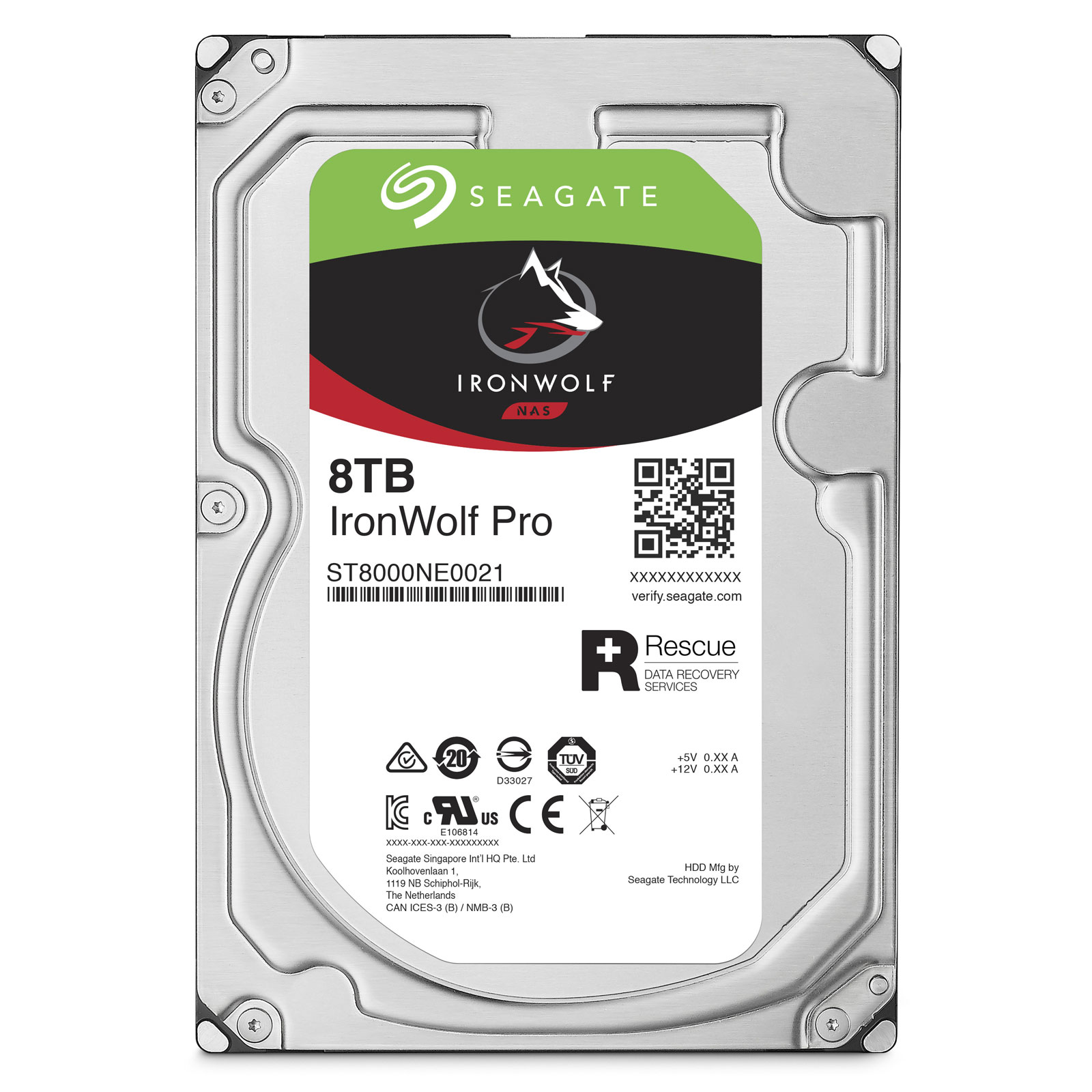 "Seagate 8To SATA III 256Mo IronWolf PRO ST8000NE0021 - Disque dur interne 3.5"" - 0"