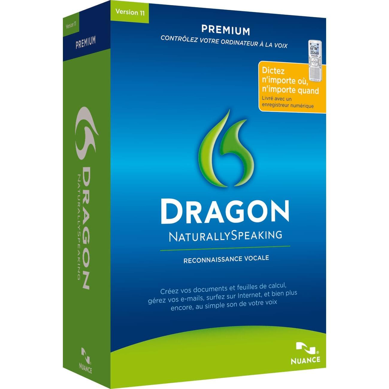 Nuance Dragon Naturally Speaking Premium Mobile (K609F-WC3-11.5) - Achat / Vente Logiciel application sur Cybertek.fr - 0