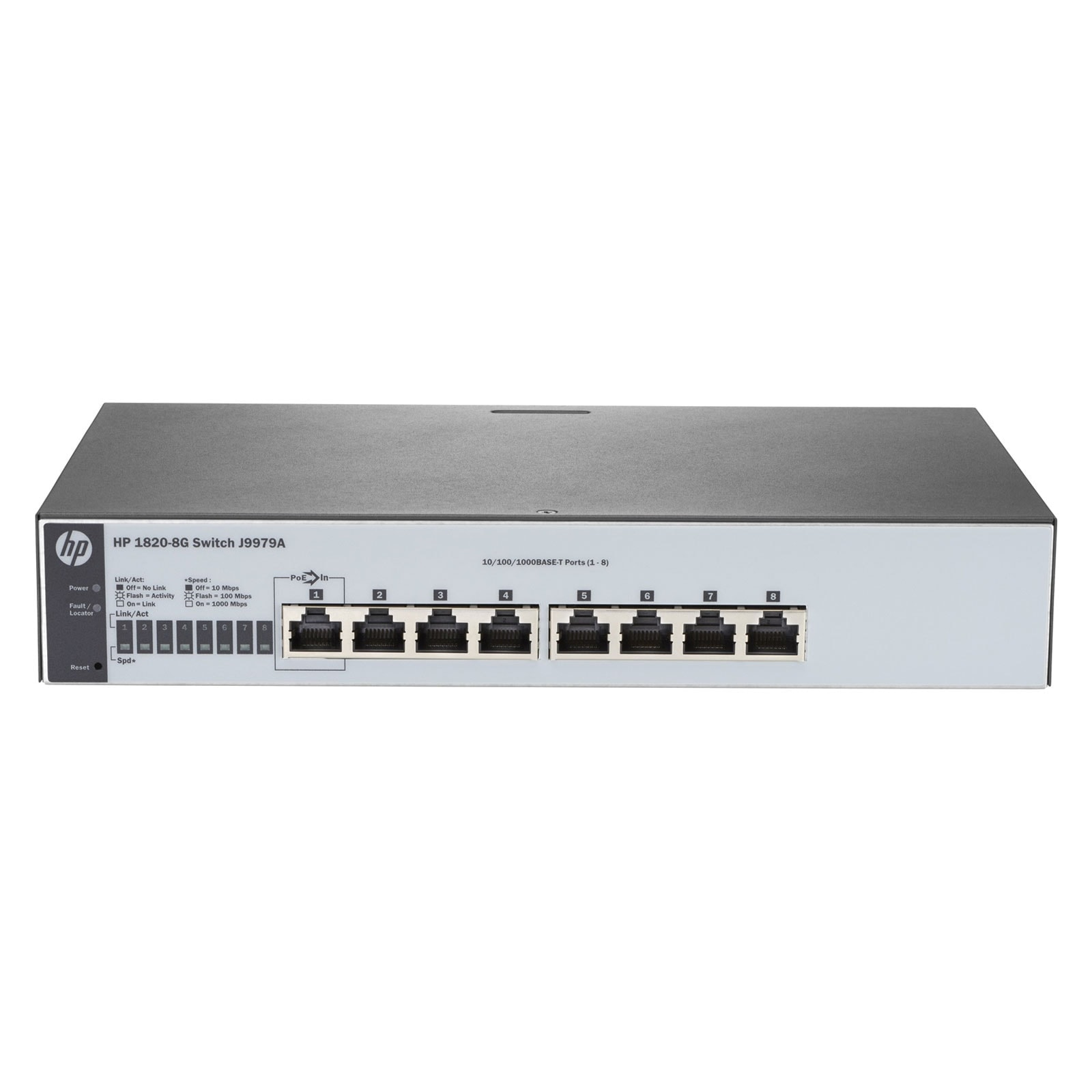 HP 8 ports 10/100/1000 Rackable (J9979A) - Achat / Vente Switch sur Cybertek.fr - 0