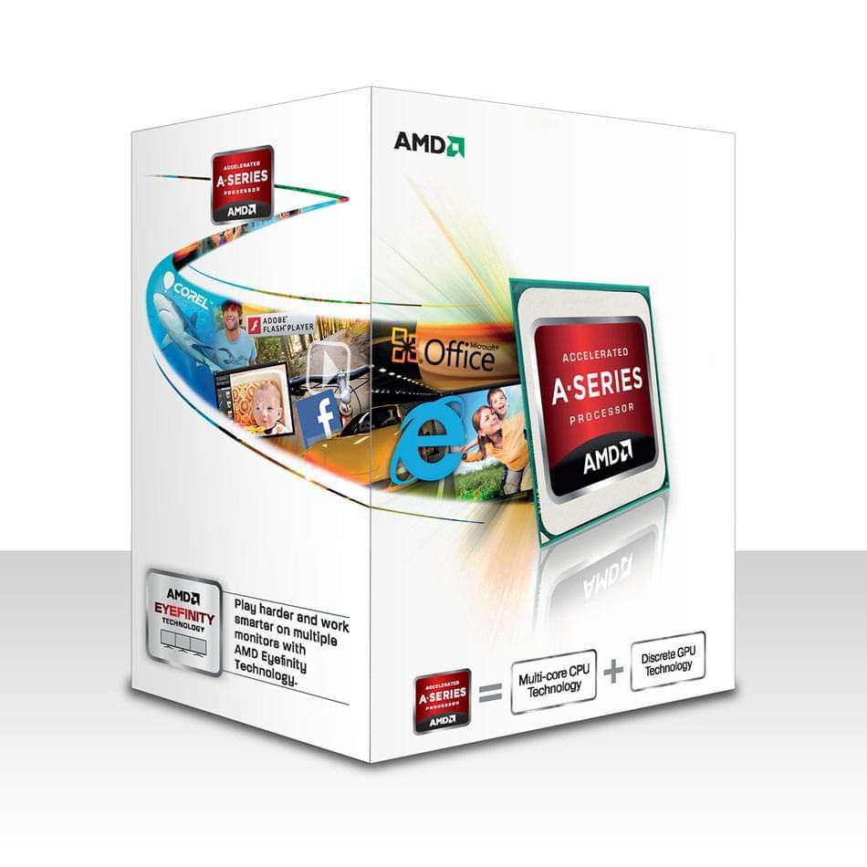 AMD A4-5300 -3.4GHz/1Mo/SKFM2/BOX (AD5300OKHJBOX) - Achat / Vente Processeur sur Cybertek.fr - 0