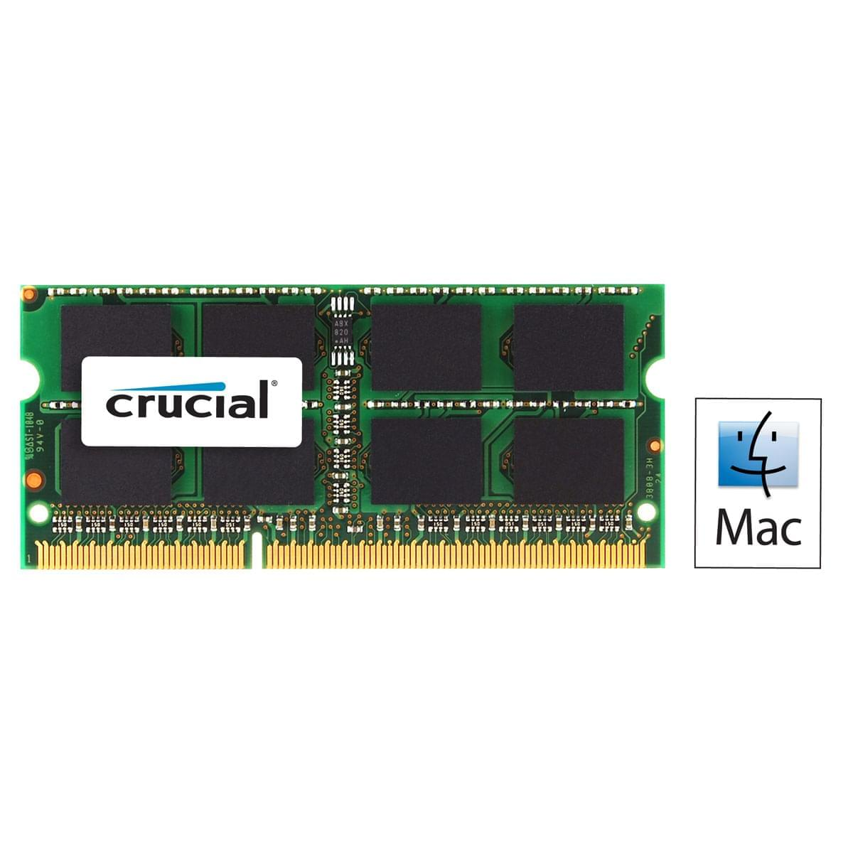 Crucial SO-DIMM 8Go DDR3 1600 for MAC CT8G3S160BMCEU SO-DDR3 - Mémoire PC portable - 0
