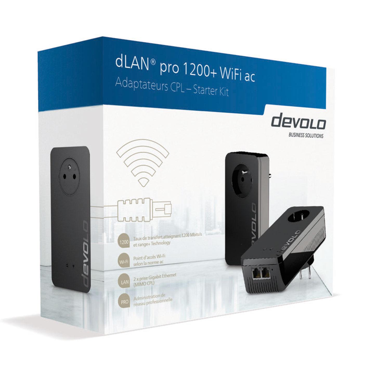 Devolo dLAN pro 1200+ WiFi ac (9551) - Achat / Vente Adaptateur CPL sur Cybertek.fr - 2