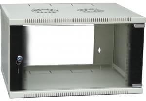 """No Name Coffret 19"""" 6U prof 450mm Gris (755053) - Achat / Vente Réseau Divers sur Cybertek.fr - 0"""