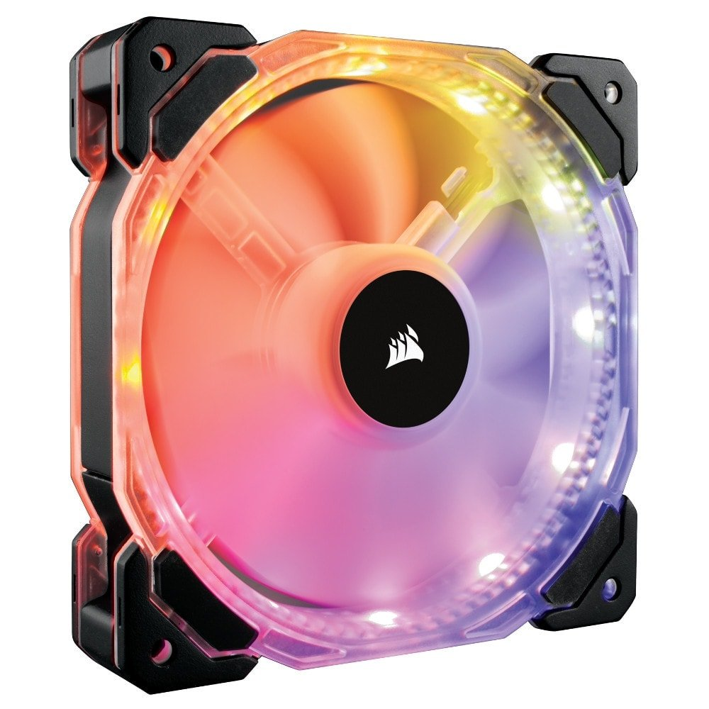 Corsair HD120 RGB Individually Adressable LED Static Pressure Fan with Controller (CO-9050066-WW) - Achat / Vente Ventilateur boîtier sur Cybertek.fr - 0