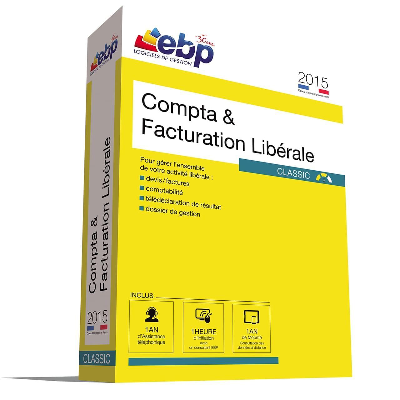 EBP Compta & Facturation Libérale OL 2015 + VIP (1161J071FAB) - Achat / Vente Logiciel Application sur Cybertek.fr - 0