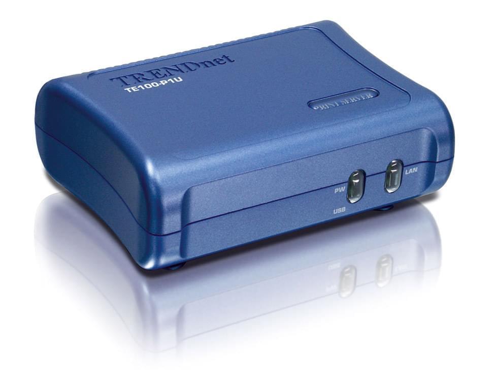 TrendNet Serveur d'impression TE100-P1U (TRE_TE100P1U) - Achat / Vente Réseau divers sur Cybertek.fr - 0
