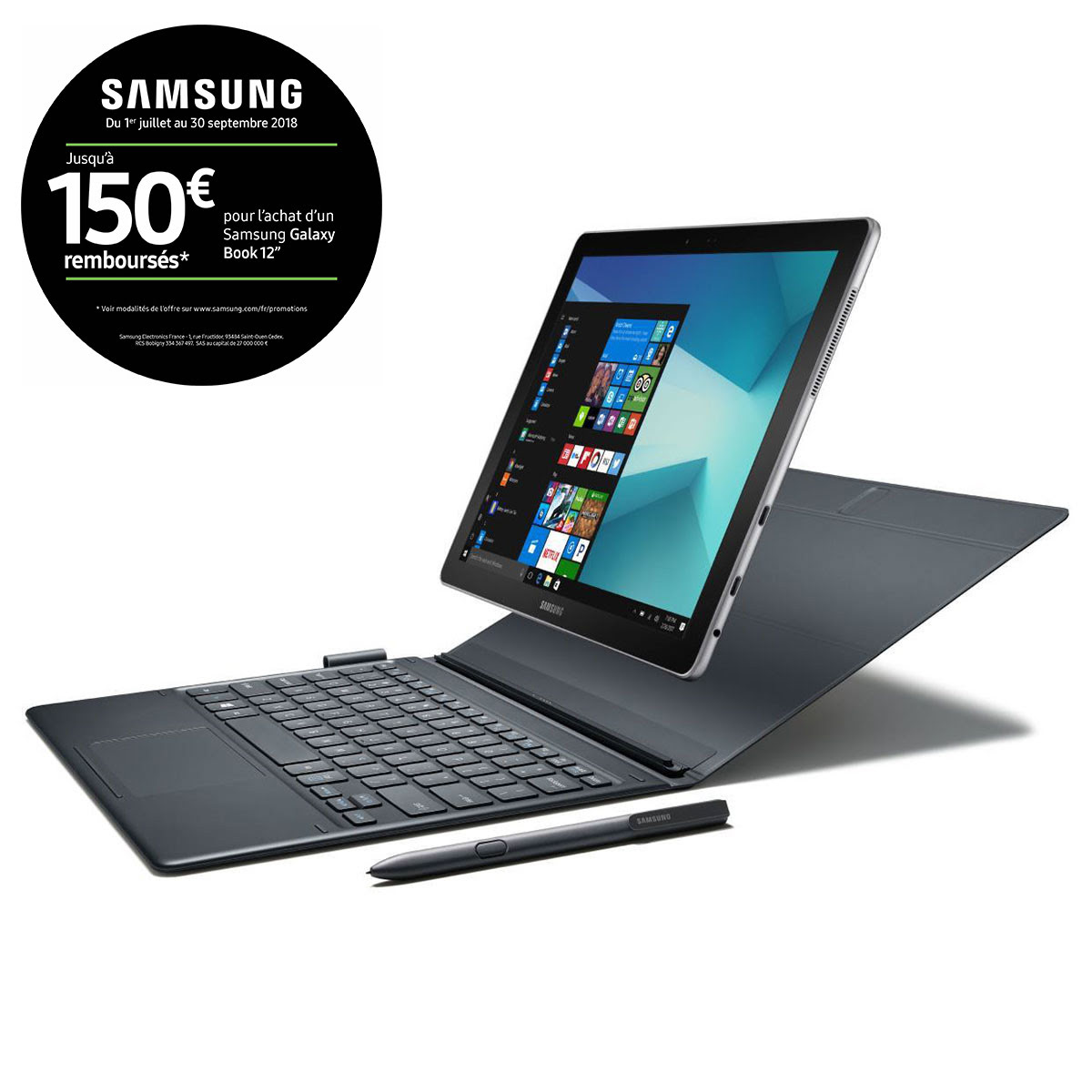 Samsung Galaxy Book 12 4G W728 - Tablette tactile Samsung - 0