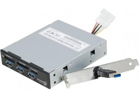 """No Name Hub 3 ports USB3 + lecteur carte sur 3.5"""" (730995) - Achat / Vente Hub sur Cybertek.fr - 0"""