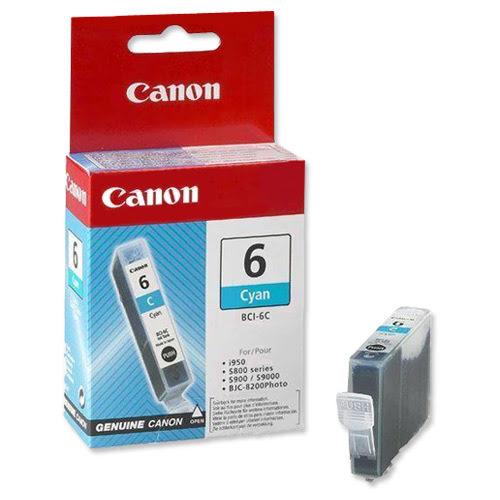 Cartouche BCI 6 C - 4706A002 pour imprimante Jet d'encre Canon - 0