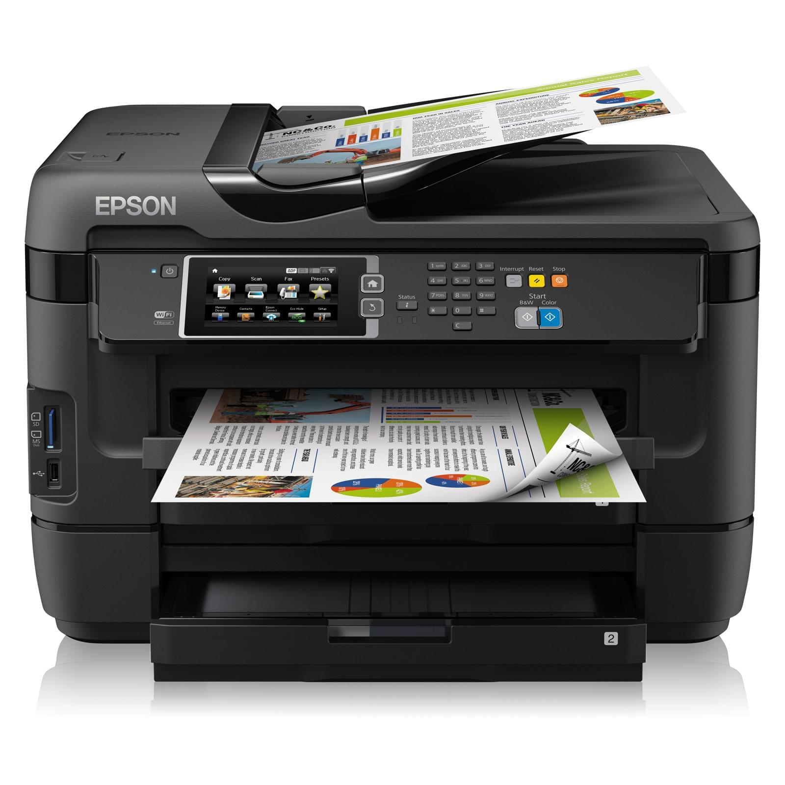 Imprimante multifonction Epson WorkForce WF-7620DTWF - A3 - 0