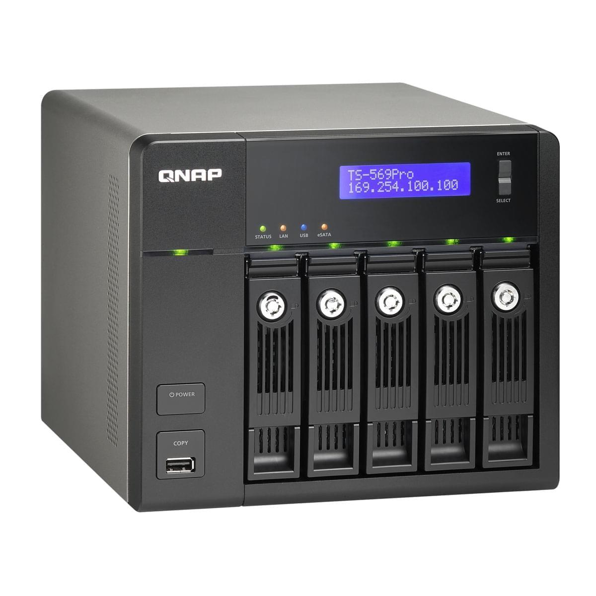 Qnap NAS TS-569PRO (5 HDD) (TS-569-PRO-EU) - Achat / Vente Boîtier externe sur Cybertek.fr - 0