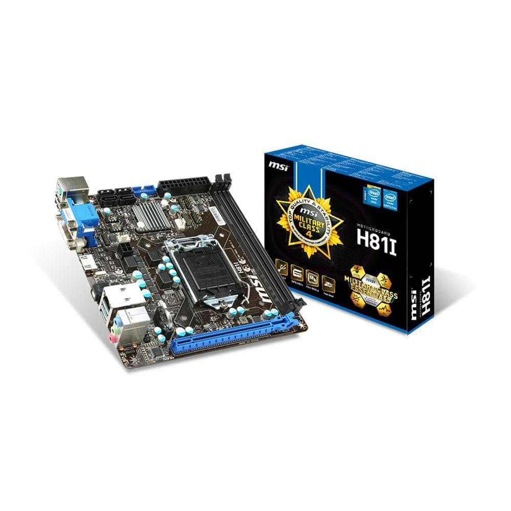 MSI H81I Mini-ITX DDR3 - Carte mère MSI - Cybertek.fr - 0