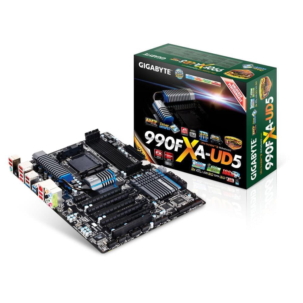 Gigabyte 990FXA-UD5 ATX DDR3 - Carte mère Gigabyte - Cybertek.fr - 0
