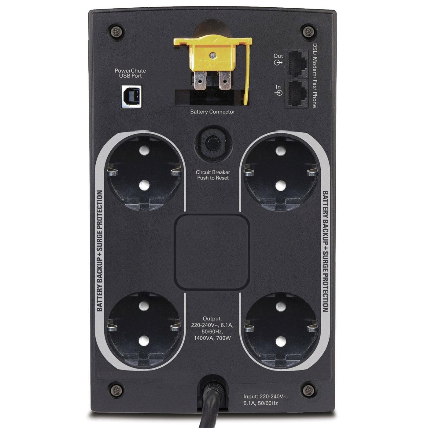 APC BX1400U-FR (BX1400U-FR) - Achat / Vente Onduleur - Multiprises sur Cybertek.fr - 1