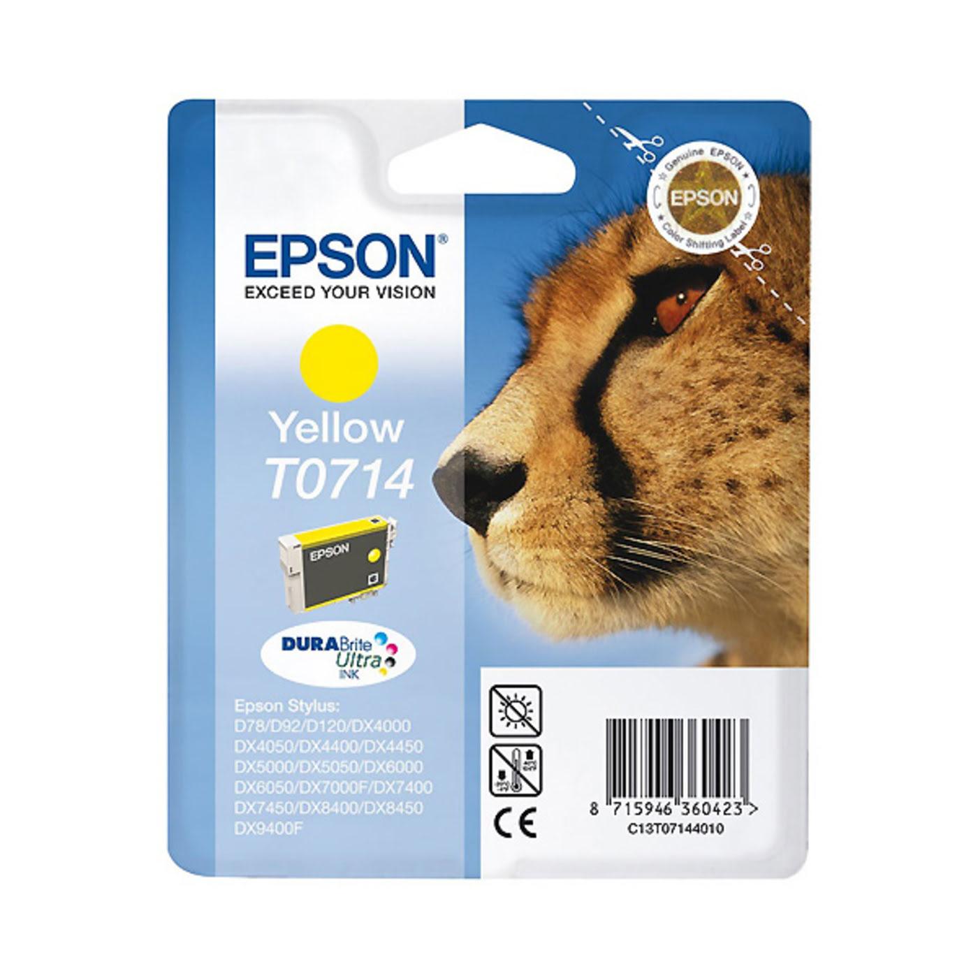Epson Cartouche DURABrite T0714 Jaune (C13T071440) - Achat / Vente Consommable Imprimante sur Cybertek.fr - 0