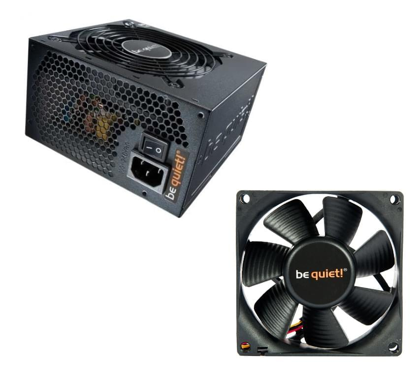 Alimentation PC Be Quiet! Pack ATX 530W Pure + SilentWings120mm BQT T12025 - 0
