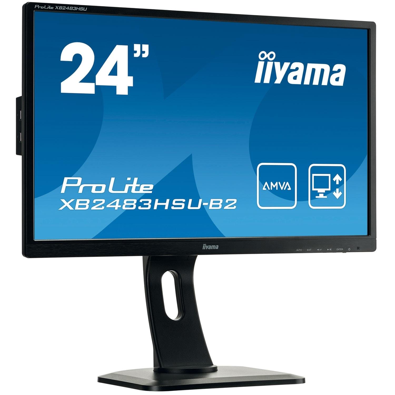 Iiyama XB2483HSU-B2 (XB2483HSU-B2) - Achat / Vente Ecran PC sur Cybertek.fr - 0
