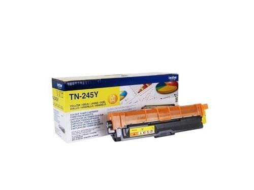 Toner Jaune TN245Y 2200p pour imprimante Laser Brother - 0