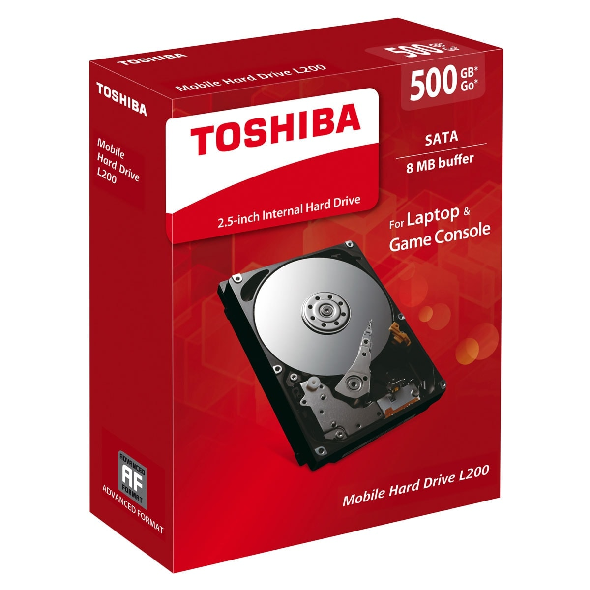 "Toshiba L200 Mobile 500Go 5400Tr SATAIII 8Mo 9,5mm - Disque dur interne 2.5"" - 0"